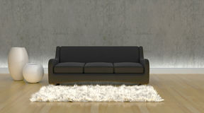 Contemporary sofa in moderen setting Stock Photo