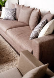Contemporary sofa in modern setting Stock Photo