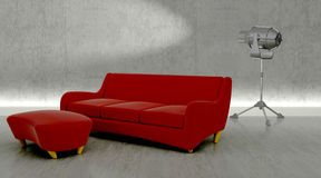 Contemporary sofa in modern setting Royalty Free Stock Photography