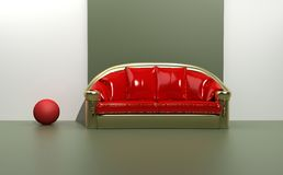 Contemporary sofa Stock Images