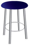 Contemporary stool with steel legs Stock Photos