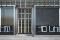 Contemporary storefront with copyspace Stock Photo