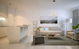 Contemporary studio apartments Stock Image