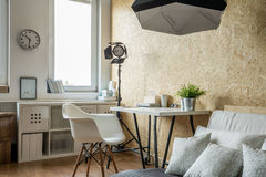 Contemporary studio for creative worker Stock Images