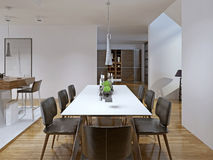 Contemporary style dining room Stock Images
