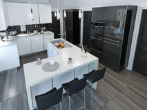 Contemporary style kitchen Royalty Free Stock Photo