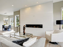 Contemporary style living room Stock Images