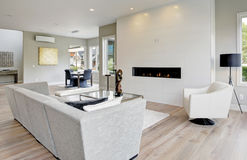 Contemporary style living room Royalty Free Stock Image