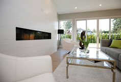 Contemporary style living room Royalty Free Stock Photo