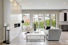 Contemporary style living room Royalty Free Stock Photography