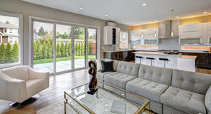Contemporary style living room Stock Photo