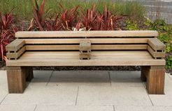 Contemporary Styled Bench Royalty Free Stock Image