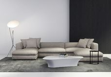 Contemporary stylish living room stock photo