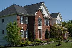 Contemporary Suburban Home. Contemporary house in the suburbs Royalty Free Stock Photos