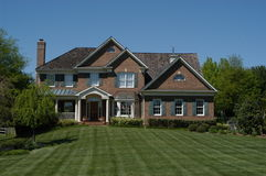 Contemporary Suburban House. Suburban home Stock Image