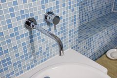 Contemporary Tap and Sink stock photo