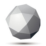 Contemporary technology black and white stylish object. Abstract 3d grayscale spherical figure Stock Photography