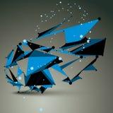 Contemporary technology blue stylish futuristic construction Royalty Free Stock Image