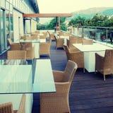 Contemporary terrace in hotel Stock Photos