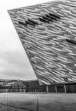Contemporary Titanic Building in Belfast, Northern Ireland stock photo
