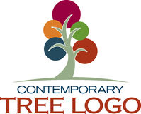 Contemporary Tree Icon Stock Image