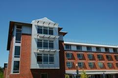 Contemporary University Dorm. Newly built university residence hall royalty free stock photos