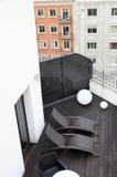 Contemporary urban terrace Royalty Free Stock Image
