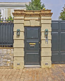 Contemporary wealthy house door Royalty Free Stock Photo