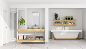 Contemporary white bathroom Royalty Free Stock Photos