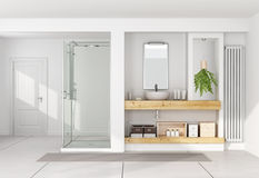 Contemporary white bathroom Royalty Free Stock Image