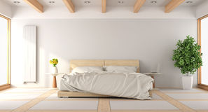 Contemporary white bedroom Royalty Free Stock Images