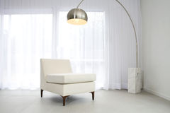 Contemporary white interior Stock Photography