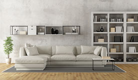 Contemporary white living room Royalty Free Stock Image