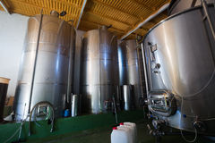 Contemporary winemaker factory Royalty Free Stock Image