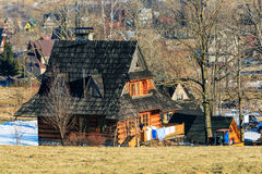 Contemporary wooden house in Zakopane Stock Photography