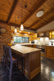 Contemporary wooden kitchen Stock Image