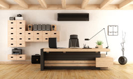 Contemporary wooden office Royalty Free Stock Photography