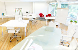 Contemporary Work Place in Modern Office Stock Photography