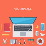 Contemporary workplace background Stock Photos