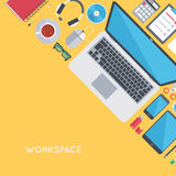 Contemporary workplace background Stock Image
