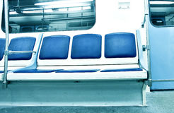 contemporaryy light blue illuminated carriage Royalty Free Stock Photo