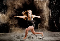 Contemporary dance performer Royalty Free Stock Images
