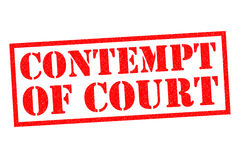 CONTEMPT OF COURT Stock Images