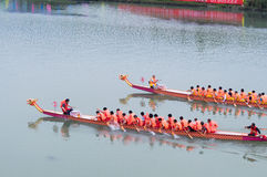 The contend of Chinese dragon boat Royalty Free Stock Images