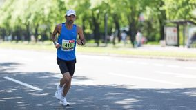 Contender from Israel competing in the 31st Belgrade Marathon royalty free stock image