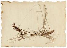 Contendiente - un barco de vela rápido Foto de archivo