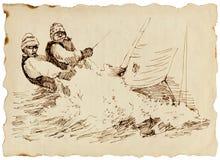 Contendientes - un barco de vela rápido Foto de archivo