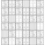 Contenedor aislado en el blanco, ejemplo Representación del vector de 3d Imagenes de archivo