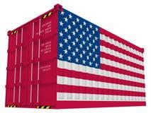 Contenedor para mercancías americano Fotografía de archivo libre de regalías
