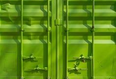 Contenedor verde Fotografía de archivo